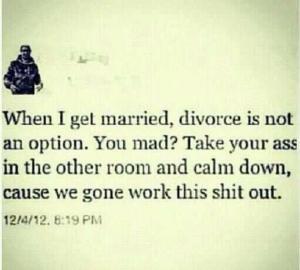 no divorce again
