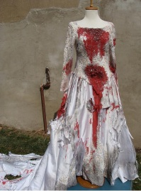 bloody wedding dress