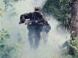 soldier running