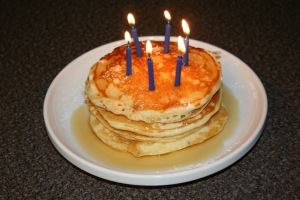 pancakes with candles