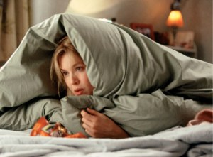 bridget jones with comforter