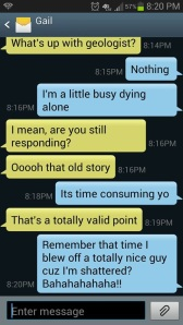die alone convo with gail