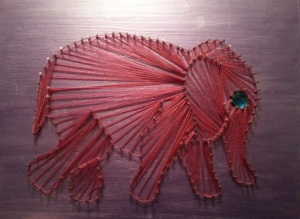 elephant string art