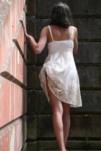 dress tucked in panties