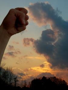 fistbump with god