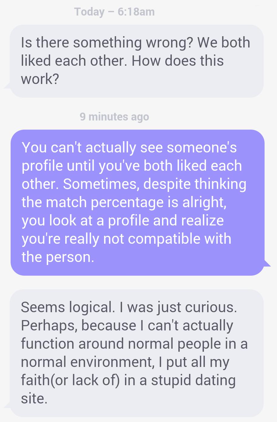 Online dating girl stops responding