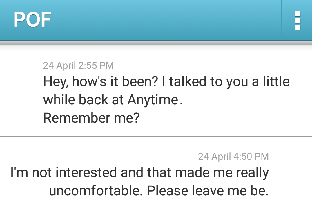 first message pof
